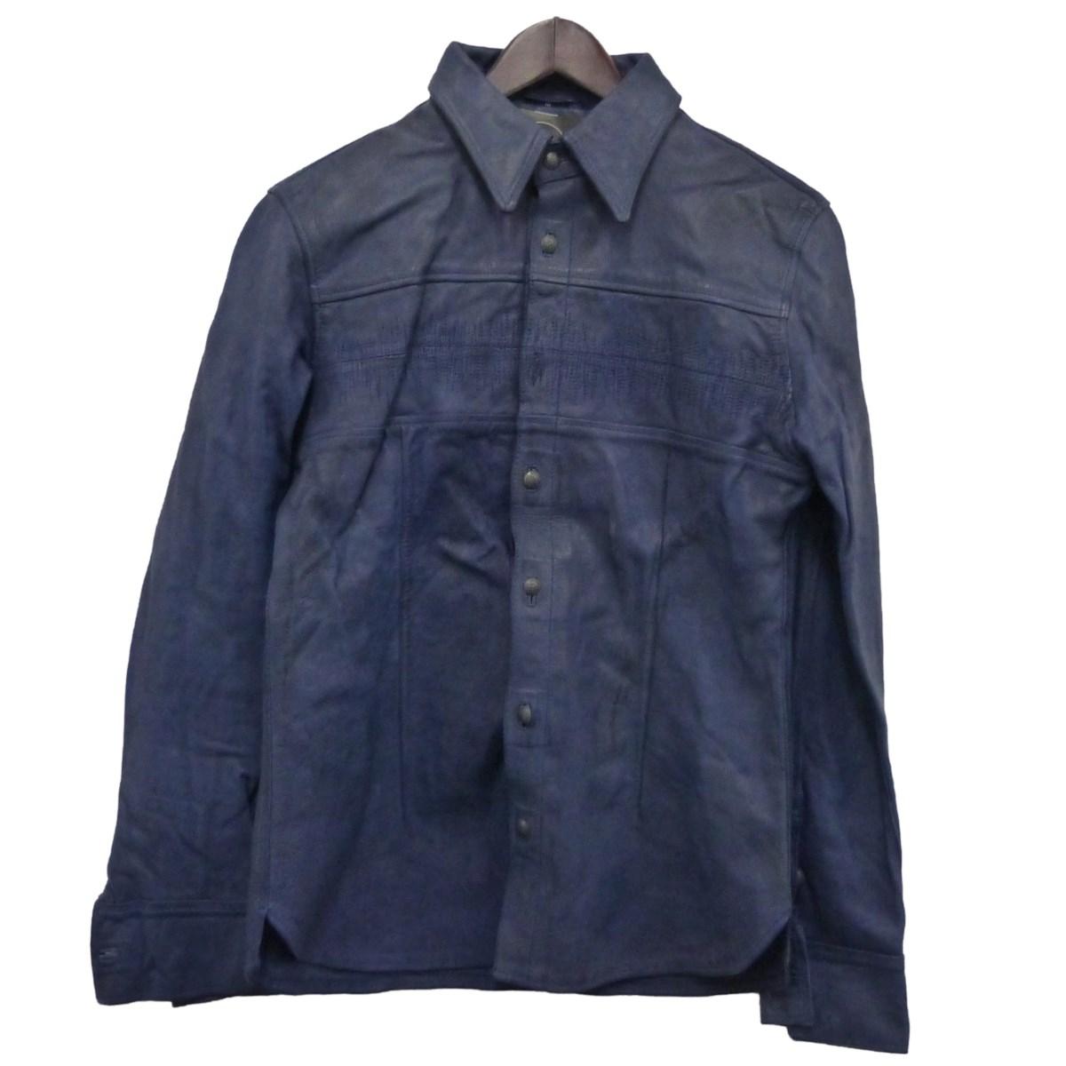 【中古】ANTINOISE レザーシャツジャケット ネイビー サイズ:M 【070420】(アンチノイズ)