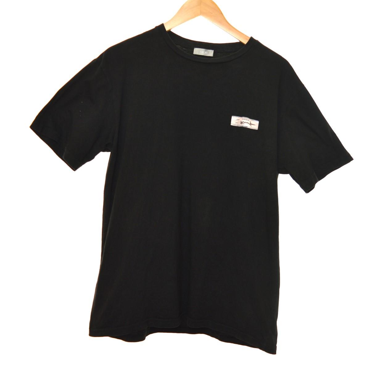 【中古】Dior Homme 19SS 923J611B0533 ビジターパッチTシャツ ブラック サイズ:S 【080420】(ディオールオム)
