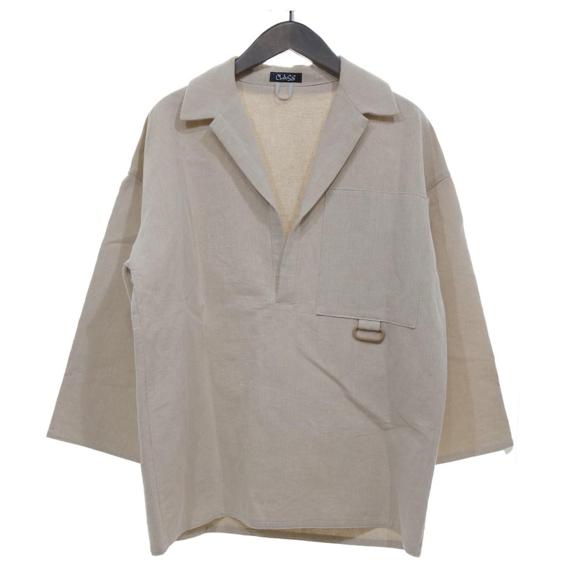 【中古】CLASS プルオーバーシャツ ベージュ サイズ:2 【080420】(クラス)