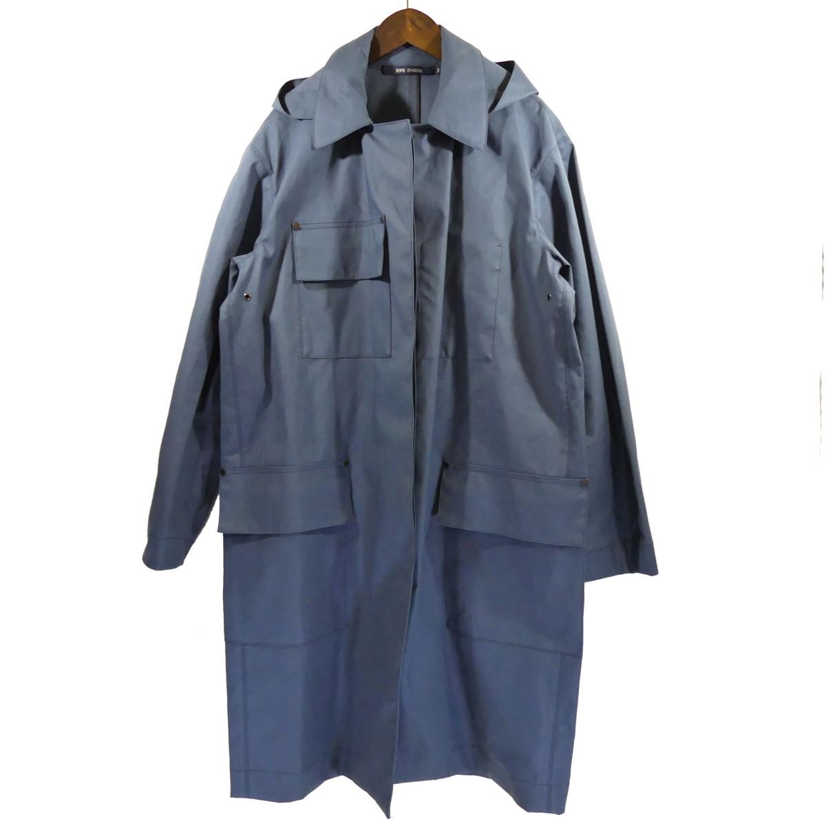 【中古】SOFIE D'HOORE フード付きステンカラーコート ネイビー サイズ:34 【080420】(ソフィードール)