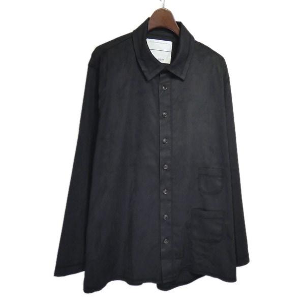【中古】WISLOM×CIAOPANIC スウェードライクポケットシャツ グリーン サイズ:L 【080420】(ウィズロム×チャオパニック)