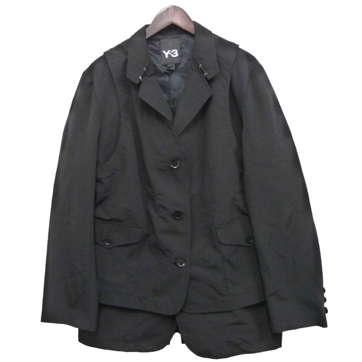【中古】Y-3 「M 2WAY JACKET」2WAYジャケット ブラック サイズ:M 【080420】(ワイスリー)