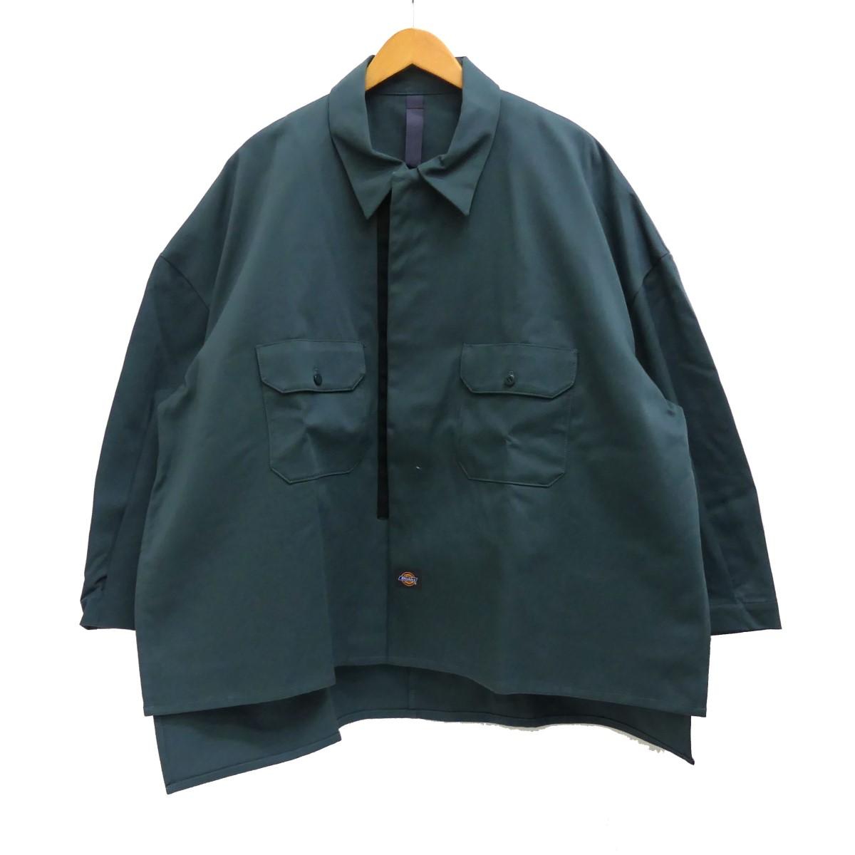 【中古】SHINYA KOZUKAWork Shirt-Ish Jacket With Dickies ワークシャツジャケット ブルーグリーン サイズ:S 【5月14日見直し】