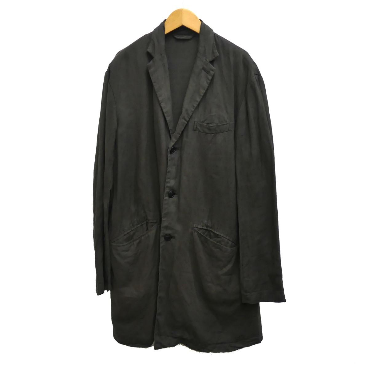 【中古】nest Robe confect19AW オーバーダイリネンチェスターコート ブラウン サイズ:4 【5月14日見直し】