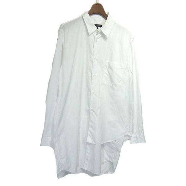 【中古】COMME des GARCONS HOMME PLUS 2019AW レイヤードシャツ ホワイト サイズ:M 【090420】(コムデギャルソンオムプリュス)