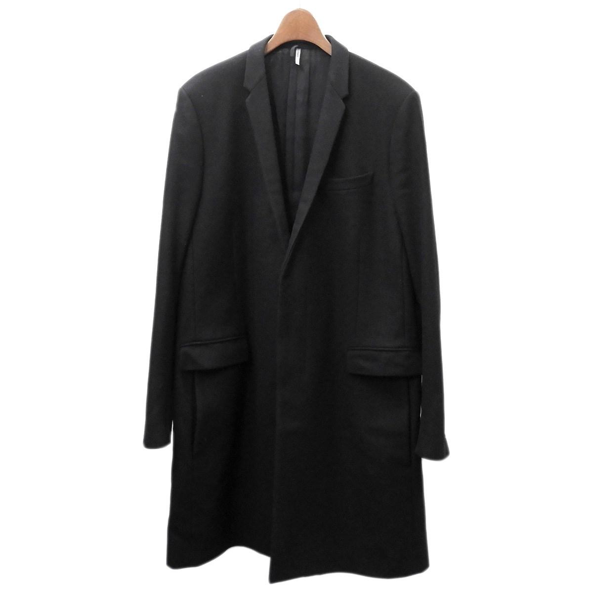 【中古】Dior Homme チェスターコート ブラック サイズ:48 【090420】(ディオールオム)