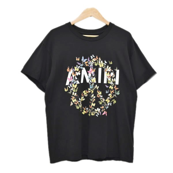 【中古】AMIRI 20SS PEACE BUTTERFLY ピース バタフライ プリントTシャツ ブラック サイズ:XS 【090420】(アミリ)