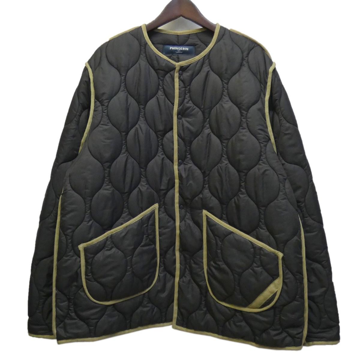 【中古】phingerin ×BEAUTY YOUTH キルティングジャケット グレー サイズ:L 【090420】(フィンガリン)