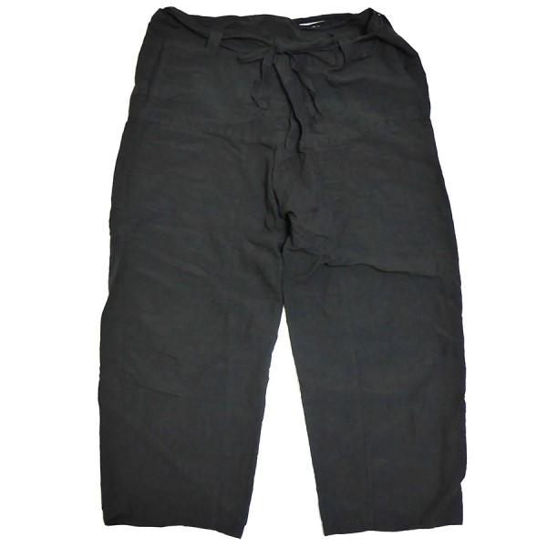 【中古】nest Robe 2020SS ヘンプ コットン 近江 晒 タイ パンツ インクブラック サイズ:F 【090420】(ネストローブ)