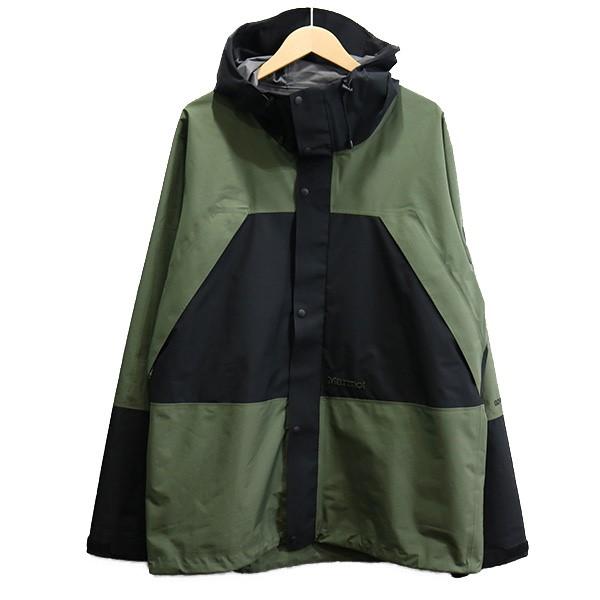 【中古】VAINL ARCHIVE × Marmot 19SS CP-JKT GORE-TEX ジャケット オリーブ サイズ:L 【090420】(ヴァイナル アーカイブ マーモット)