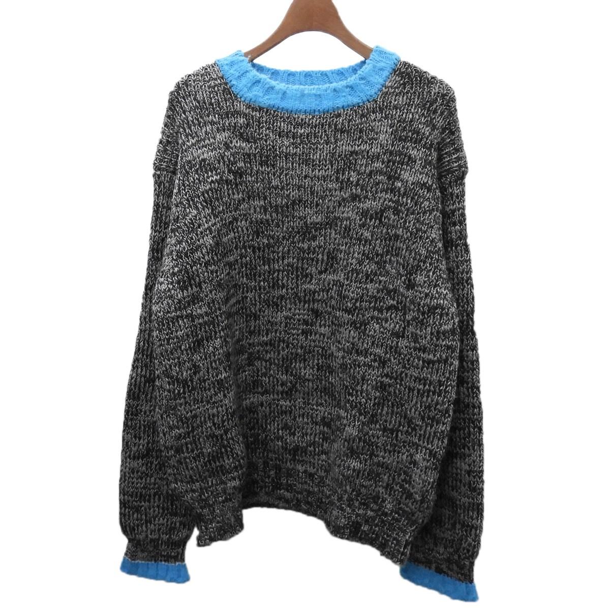 【中古】FACETASM 「MOTTLED SWEATER」セーター グレー×ブルー サイズ:5 【100420】(ファセッタズム)