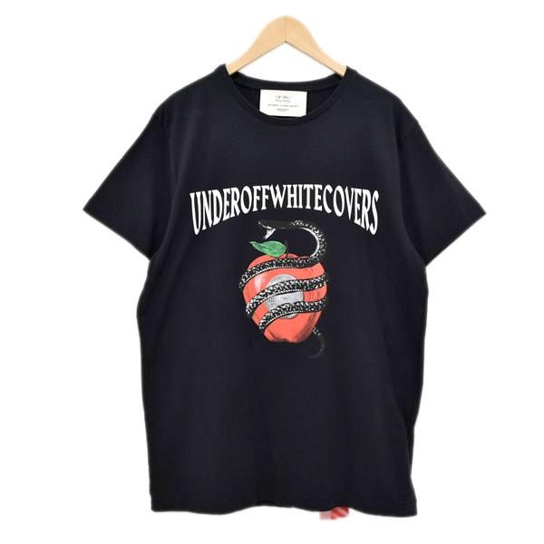 【中古】OFFWHITE ×UNDERCOVER プリントTシャツ ブラック サイズ:L 【100420】(オフホワイト)