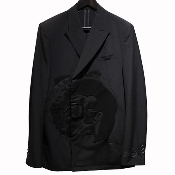 【中古】UNDER COVER 20SS Cindy パッチジャケット テーラードジャケット ノッチドラペル ブラック サイズ:2 【090420】(アンダーカバー)