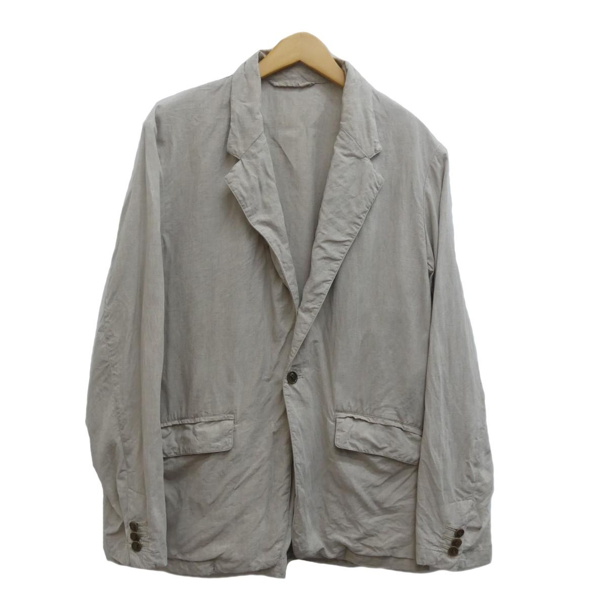 【中古】nest Robe confect 19SS ハイカウントリネンライトジャケット アイボリー サイズ:3 【100420】(ネストローブコンフェクト)