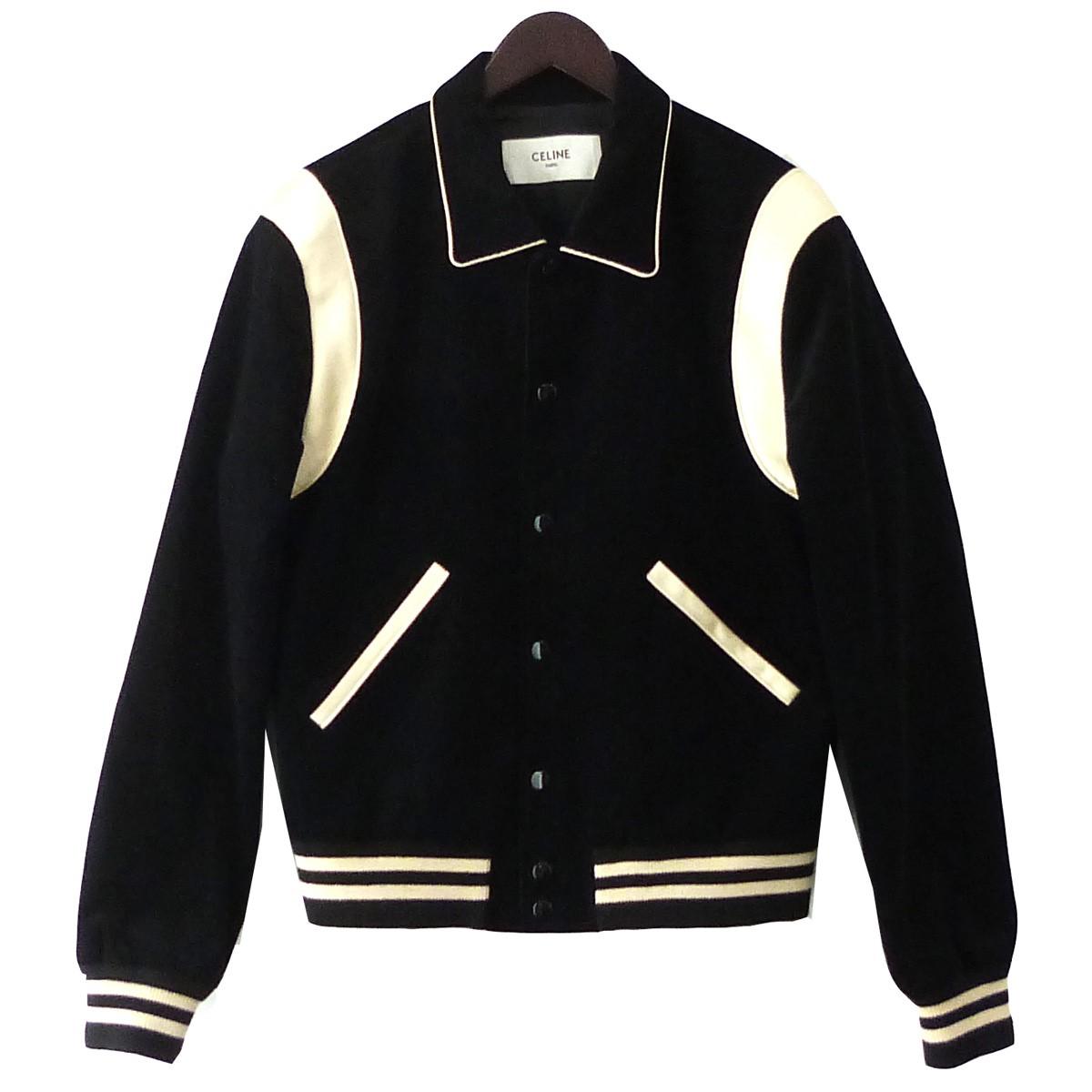 【中古】CELINE コーデュロイテディブルゾン ジャケット ブラック サイズ:46 【100420】(セリーヌ)