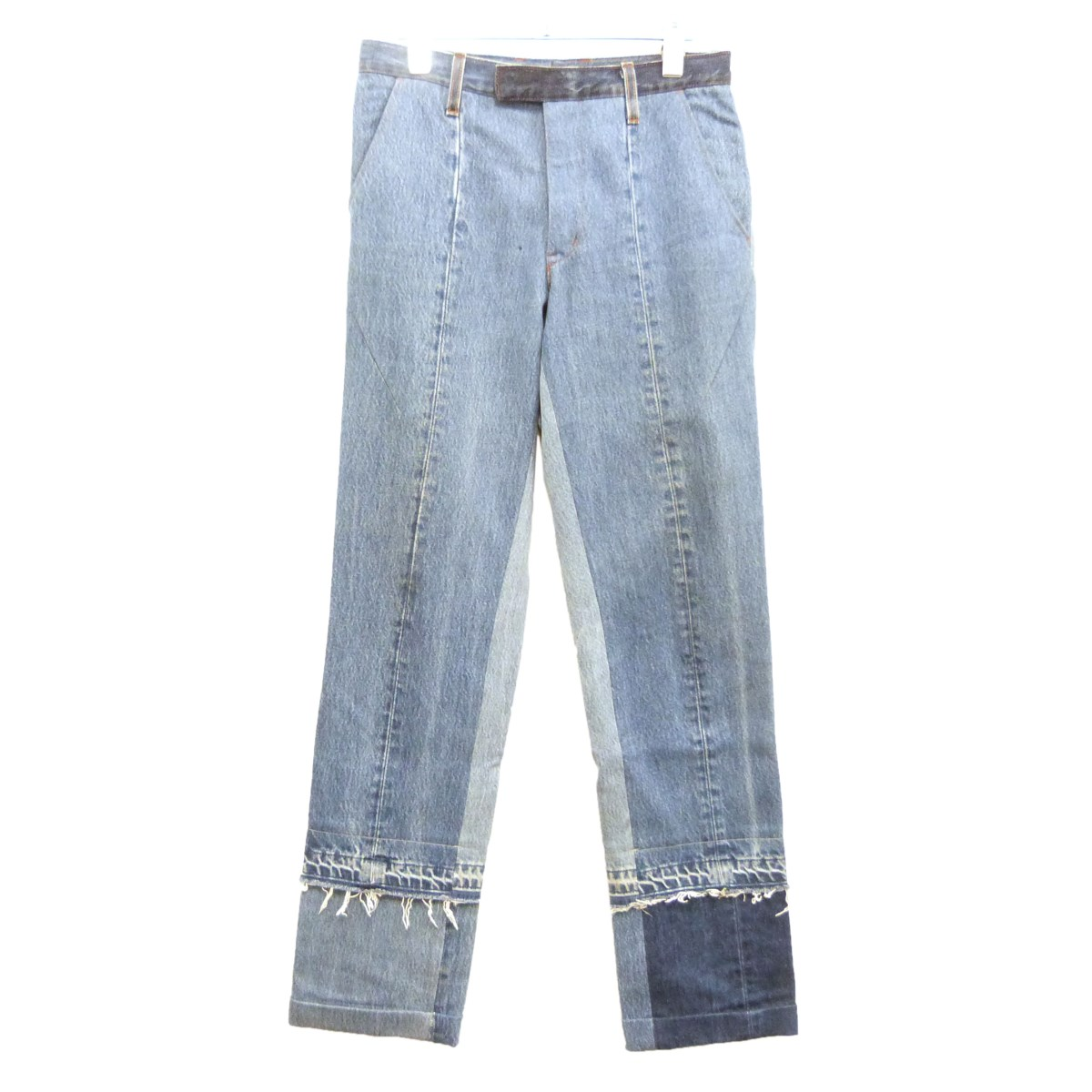 【中古】TAKAHIROMIYASHITA The SoloIst. 18SS「Layered Jean」再構築レイヤードデニムパンツ インディゴ サイズ:46 【100420】(タカヒロミヤシタザソロイスト)