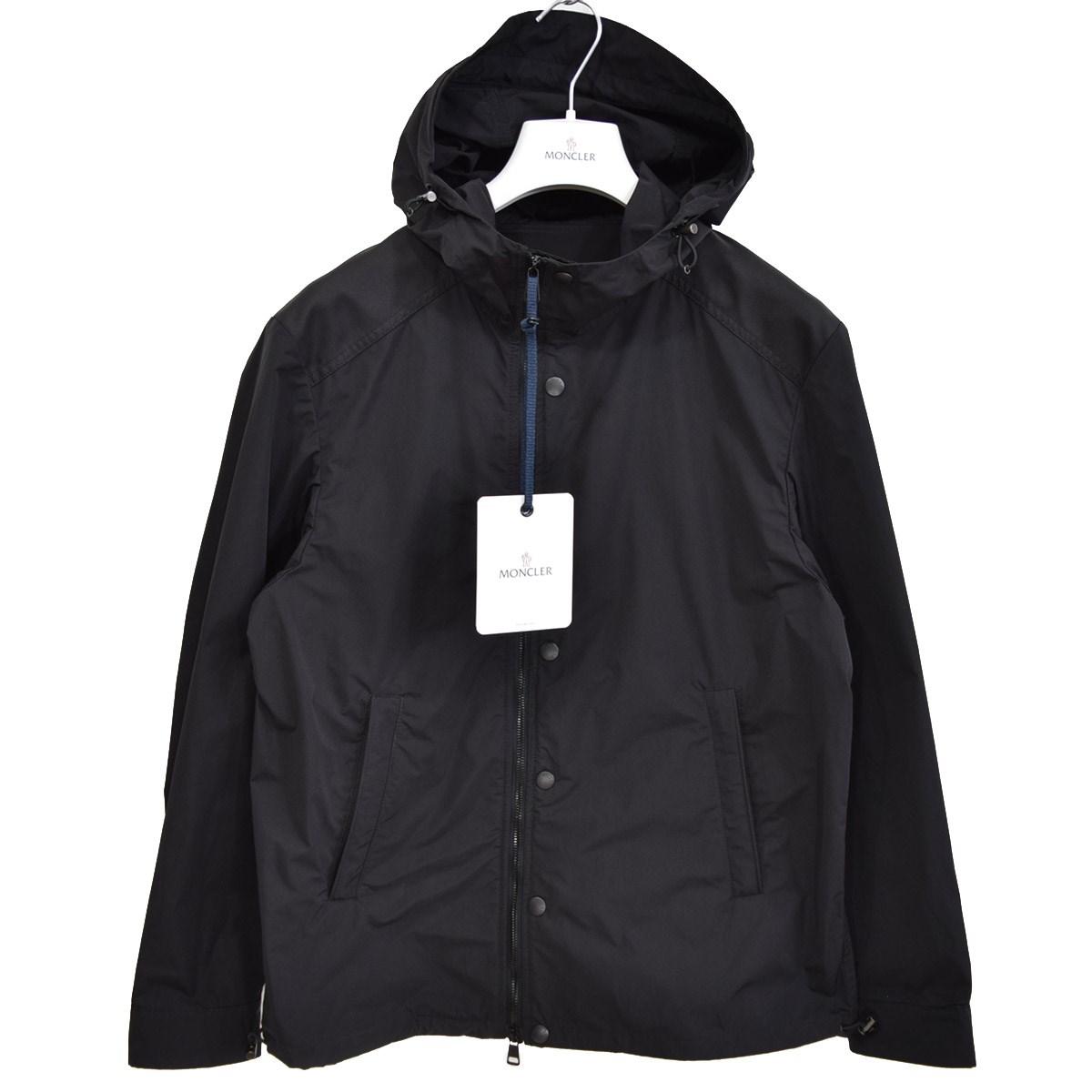【中古】MONCLER NICHOLAS フーデッドジャケット 2019SS 国内正規品 ブラック サイズ:1 【100420】(モンクレール)