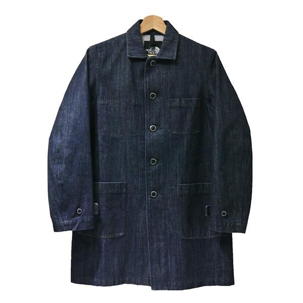 【中古】THE NORTH FACE Denim Shop Coat ゴアウインドストッパーデニムショップコート NP11541 インディゴ サイズ:S 【100420】(ザノースフェイス)