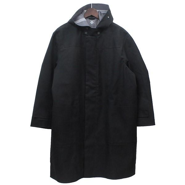 【中古】DESCENTE PAUSE フーデットコート DLMOC38 ブラック サイズ:M 【100420】(デサントポーズ)