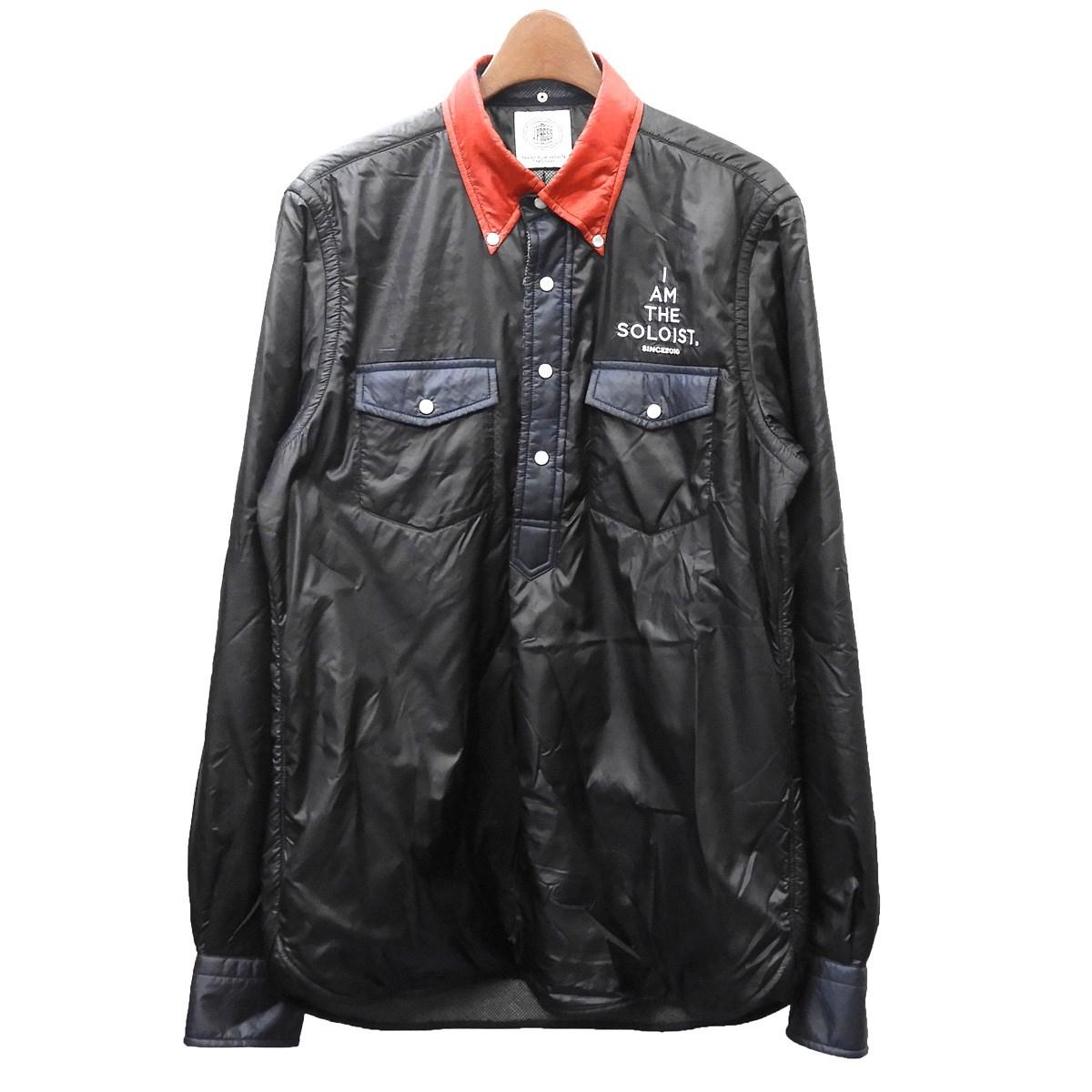 【中古】TAKAHIRO MIYASHITA The SoloIst.× J.PRESS 2019AW 「double pocket pullover BD shirt.」プルオーバーシャツ ブラック サイズ:M 【110420】(タカヒロミヤシタザソロイスト ジェイプレス)