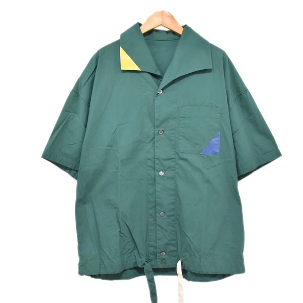 【中古】phingerin 19SS QUE SHIRT 半袖シャツ グリーン サイズ:F 【110420】(フィンガリン)