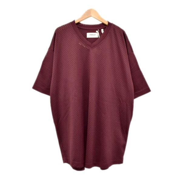 【中古】FOG ESSENTIALS メッシュフットボールシャツ ボルドー サイズ:M 【110420】(エフオージー エッセンシャルズ)
