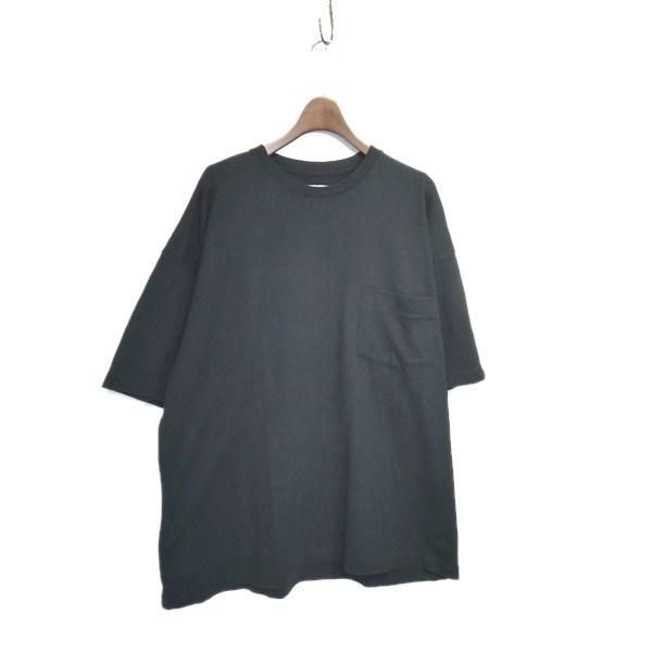 【中古】Graphpaper×LOOPWHEELER 2017SS 「Big Tee」オーバーサイズTシャツ ブラック サイズ:Free 【110420】(グラフペーパー×ループウィラー)