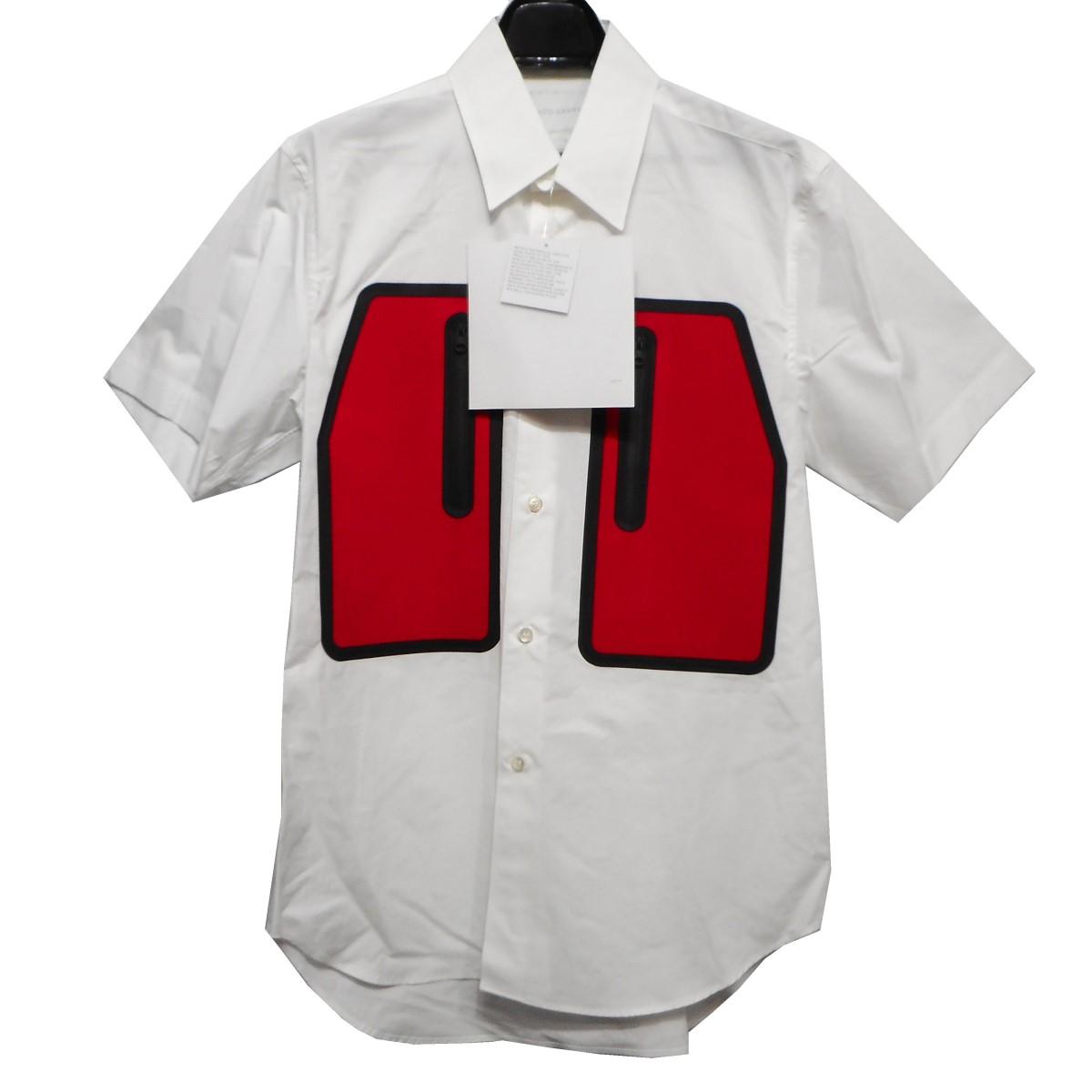 【中古】FUMITO GANRYU 19SS Water Resistant Pockets Shirt 切替ポケットシャツ ホワイト サイズ:2 【100420】(フミト ガンリュウ)