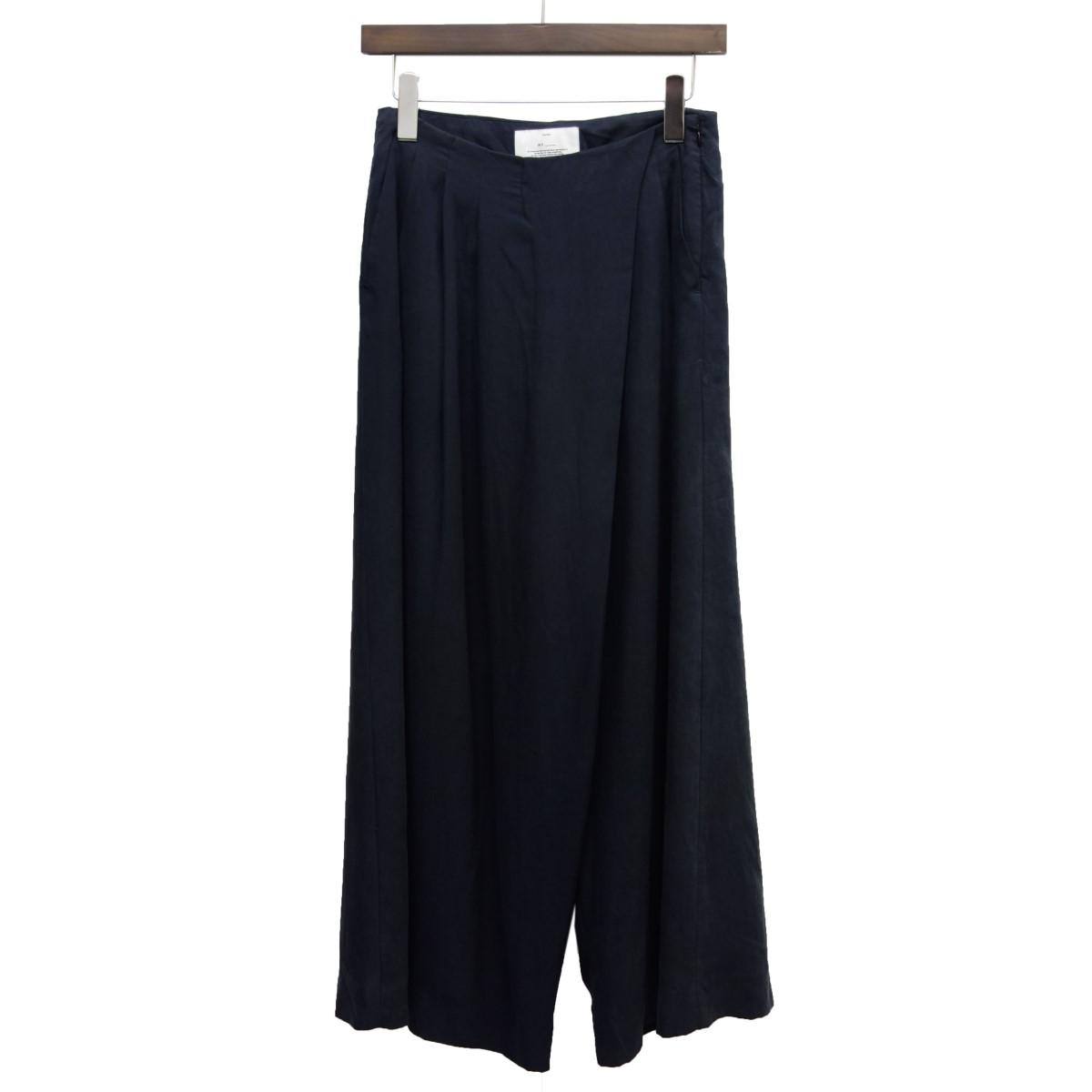 【中古】MY ラップデザインパンツ ブラック サイズ:0 【110420】(マイ)
