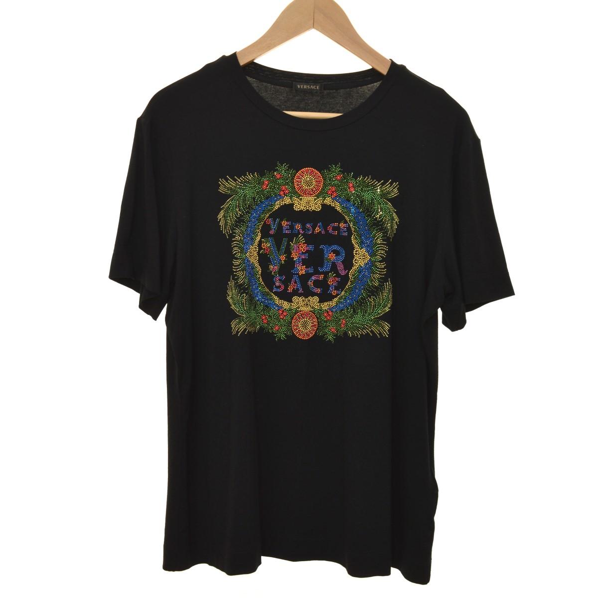 【中古】VERSACE 18SS Tシャツ ブラック サイズ:42 【120420】(ヴェルサーチ)