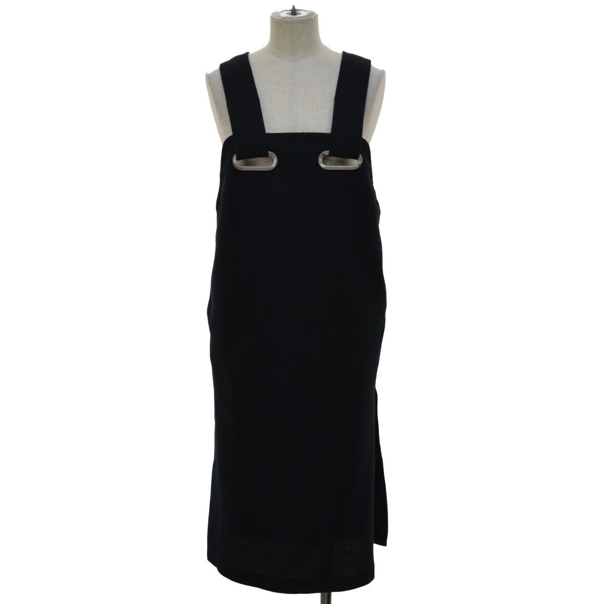 【中古】TOGA PULLA 17SS サイドスリットドレス ブラック サイズ:36 【120420】(トーガ プルラ)