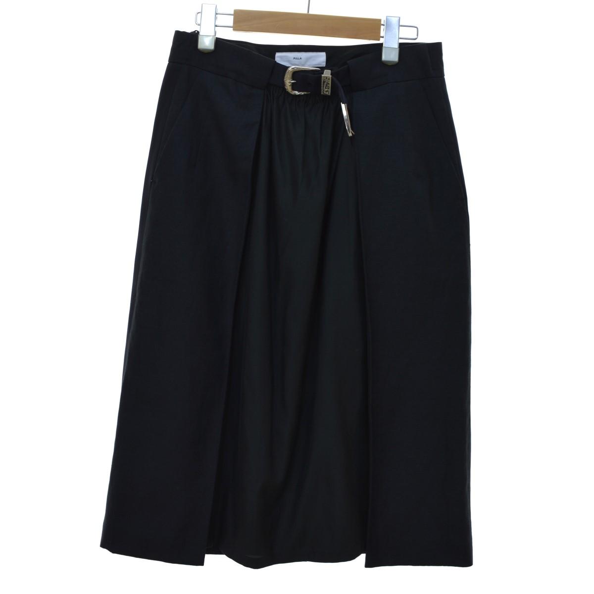 【中古】TOGA PULLA 19SS Chambray wool skirt スカート ブラック サイズ:38 【120420】(トーガ プルラ)