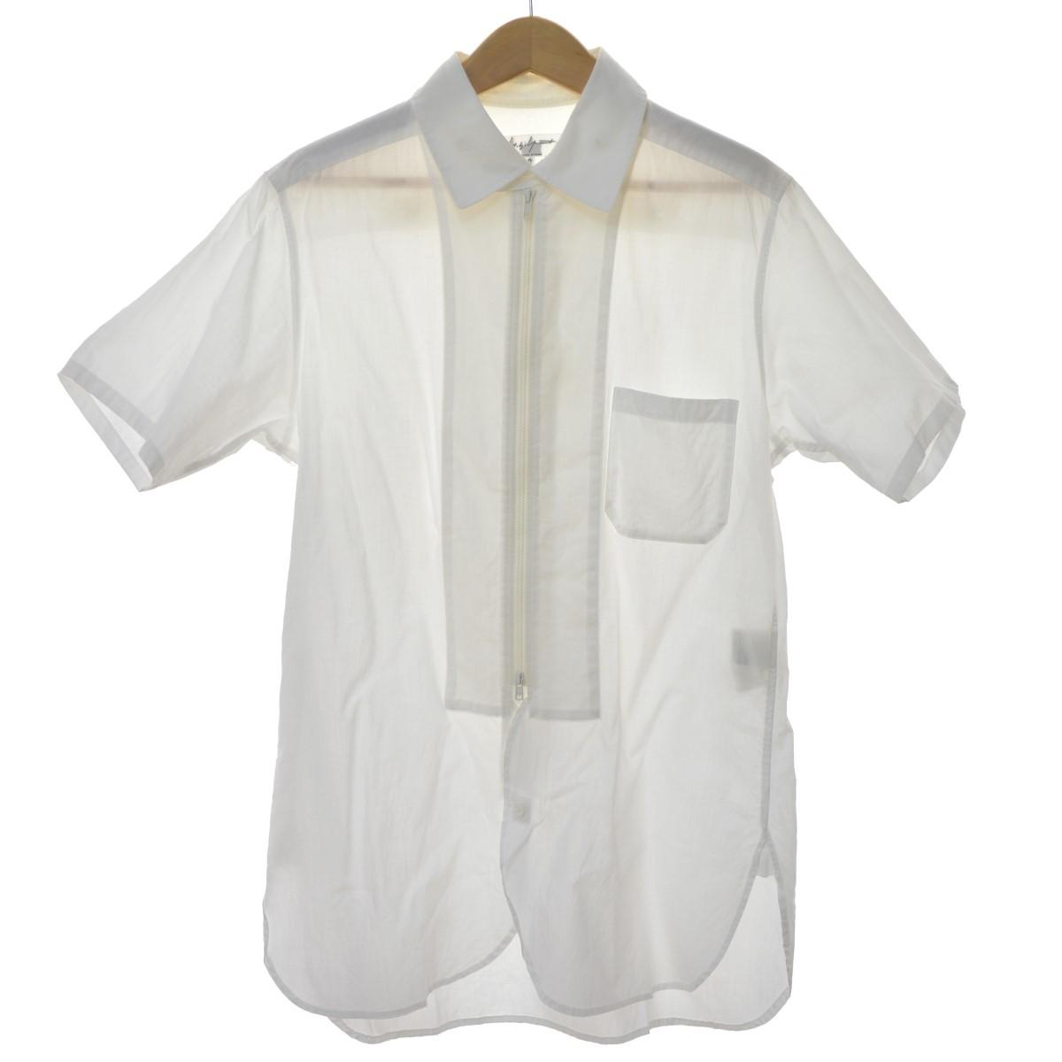 【中古】YOHJI YAMAMOTO pour homme ジップアップシャツ ホワイト サイズ:2 【130420】(ヨウジヤマモトプールオム)