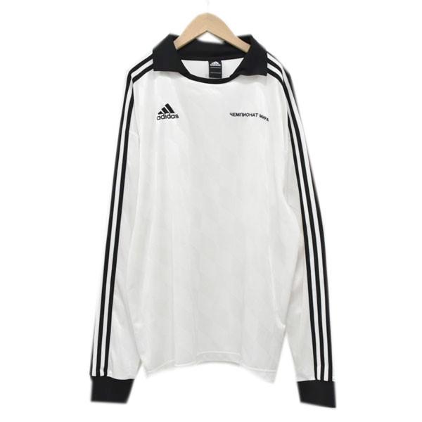 【中古】GOSHA RUBCHINSKIY × adidas long sleeve jersey ポロネック長袖カットソー ホワイト サイズ:M 【130420】(ゴーシャラブチンスキー アディダス)