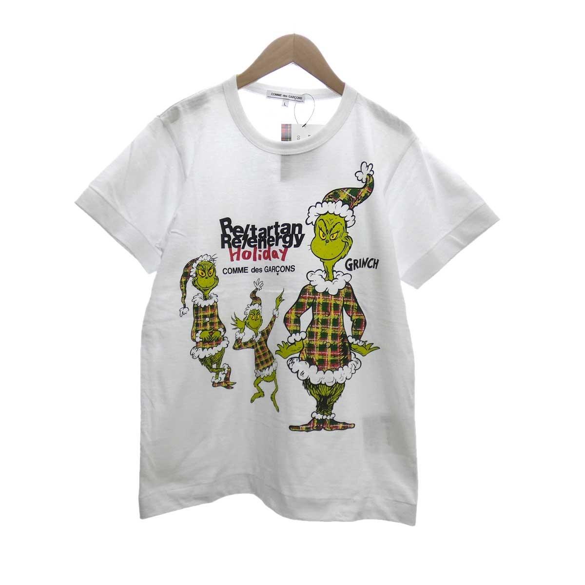 【中古】COMME des GARCONS GRINCH プリントTシャツ ホワイト サイズ:L 【130420】(コムデギャルソン)