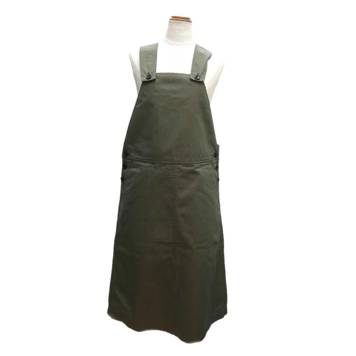 【中古】COMME des GARCONS GIRL ジャンパースカート オリーブ サイズ:S 【130420】(コムデギャルソンガール)