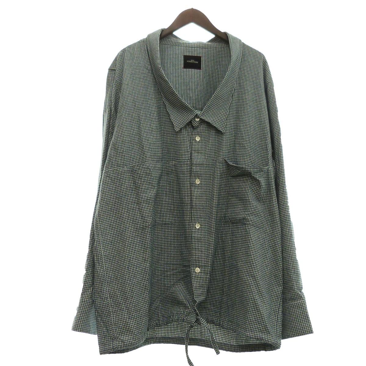 【中古】SYU. 19AW「OVER NECK SHIRTS JKT」オーバーネックチェックシャツジャケット グリーン サイズ:2 【130420】(シュウ)
