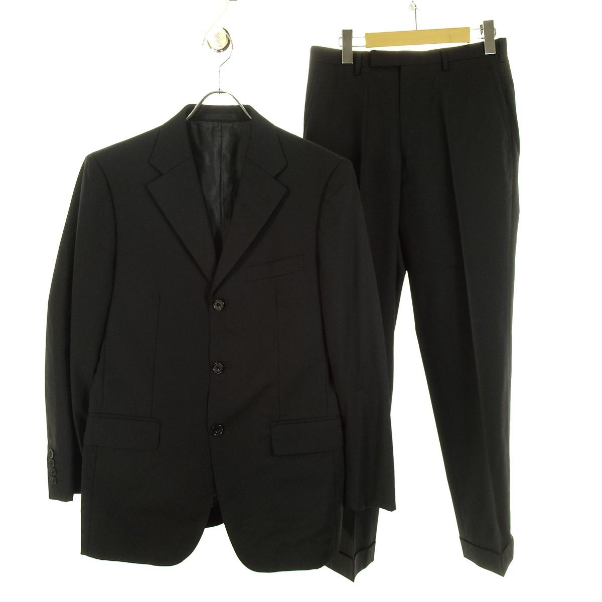 【中古】BURBERRY BLACK LABEL セットアップ 3Bスーツ ブラック サイズ:38R/38R 【130420】(バーバリーブラックレーベル)