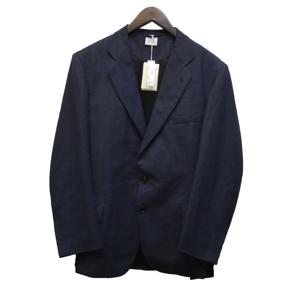 【中古】VETEMENTS20SS 「Cut-out Jacket」カットアウトテーラードジャケット ネイビーチェック サイズ:S 【7月2日見直し】