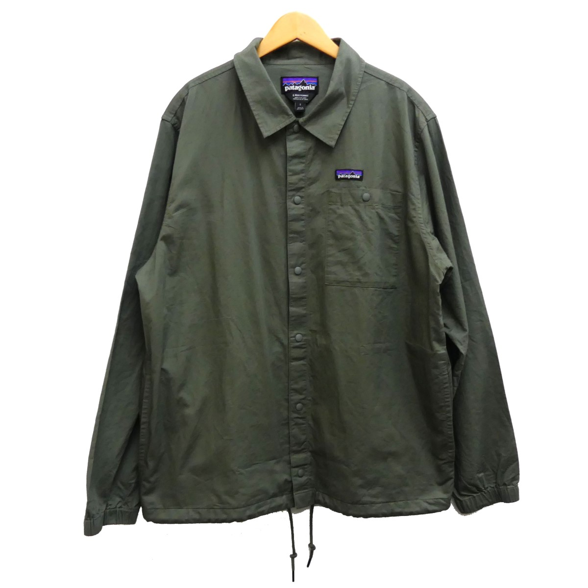 【中古】patagonia 19SS Lightweight All-Wear Hemp Coaches Jacket カーキ サイズ:L 【140420】(パタゴニア)