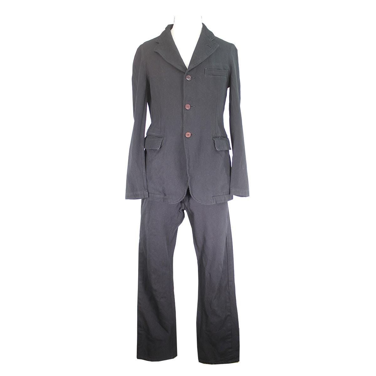 【中古】COMME des GARCONS HOMME PLUS 製品染めセットアップスーツ ピンクパンサー期 ブラック サイズ:S/S 【130420】(コムデギャルソンオムプリュス)