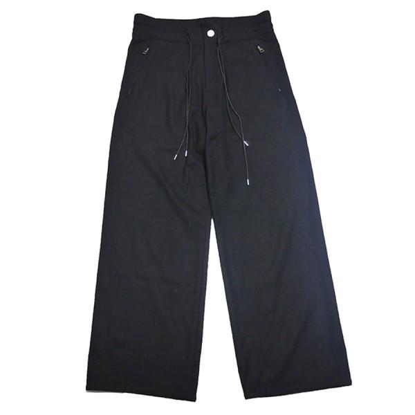 【中古】LOUIS VUITTON 裾裏 ダミエ テープ ウール パンツ ブラック サイズ:36 【130420】(ルイヴィトン)