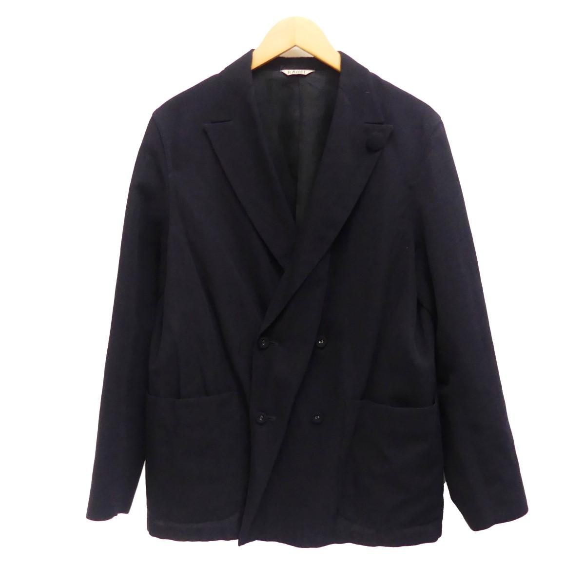 【中古】KABEL ウールリネンダブルテーラードジャケット サイズ:2 【150420】(カベル)
