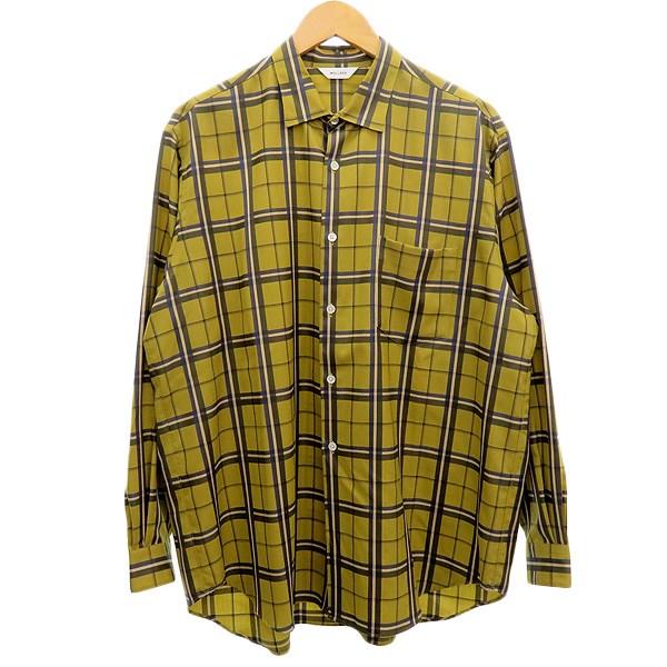 【中古】WELLDER 【Standard Shirt】2019SS チェックウールシャツ イエロー サイズ:4 【150420】(ウェルダー)