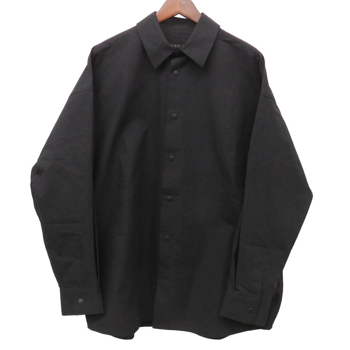 【中古】my beautiful lamdlet オーバーサイズスナップシャツジャケット ビッグコーチジャケット wm02-sh191025 ブラック サイズ:0 【150420】(マイビューティフルランドレット)