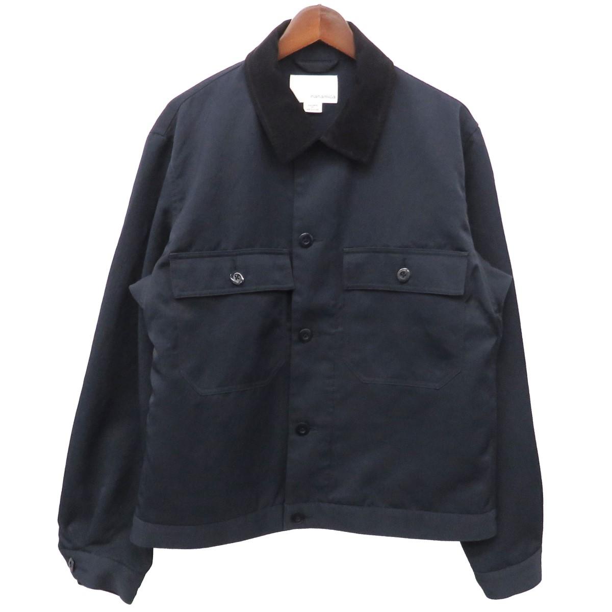 【中古】nanamica DUCK JACKET 切替ブルゾン ワイドジャケット SUAF815 ネイビー サイズ:M 【150420】(ナナミカ)