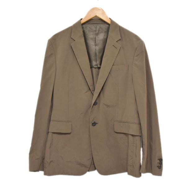 【中古】PRADA 2B テーラードジャケット ブラウン サイズ:50 【150420】(プラダ)
