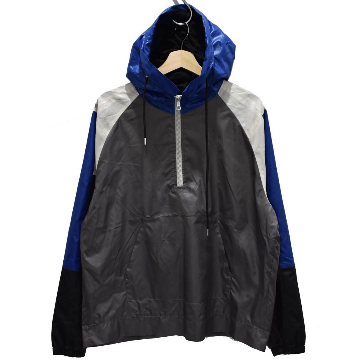 【中古】JOHN ELLIOTT sail jacket ナイロンジャケット グレー×ブルー サイズ:2 【150420】(ジョンエリオット)