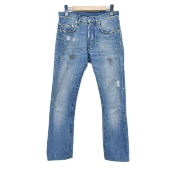 【中古】Dior Homme ダスト加工デニムパンツ 163D000TX256 インディゴ サイズ:26 【150420】(ディオールオム)