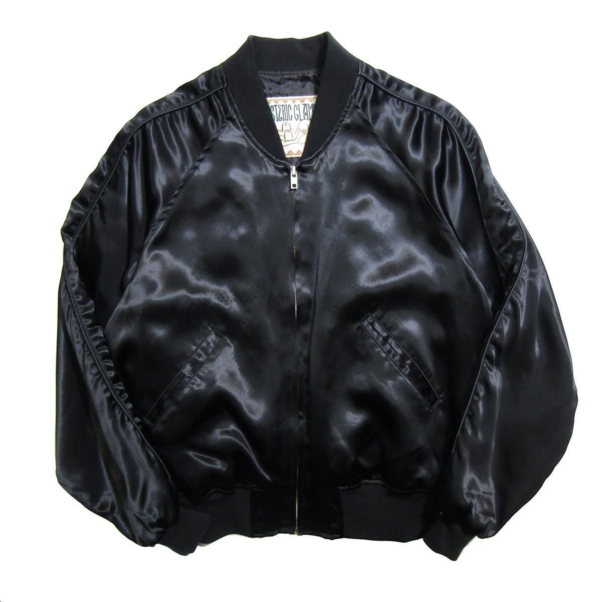 【中古】HYSTERIC GLAMOUR 2019AW MISS HYSTERIC刺繍スカジャン ブラック サイズ:S 【150420】(ヒステリックグラマー)